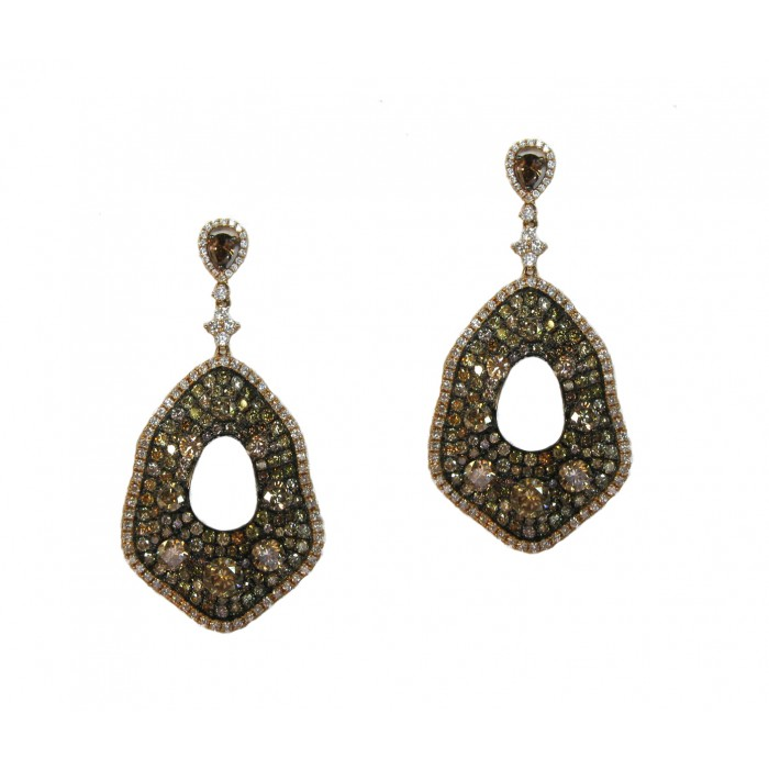 multicolored earrings impressive diamond