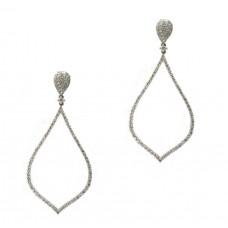 Diamond Rain Drop Earrings