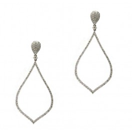 Diamond Rain Drop Earrings