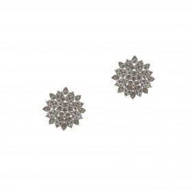 Large Brilliant Flower Earrings