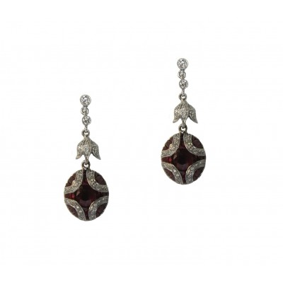 Gorgeous Ruby Drop Earrings