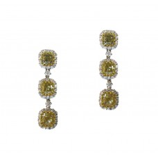 Fancy Yellow Hanging Earrings