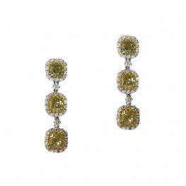 Fancy Yellow Hanging Earrings
