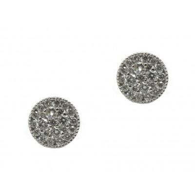 Diamond Circle Cluster Earring