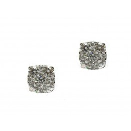 Cushion Shape Cluster Earrings