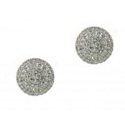 Round Pavé Cluster Earrings