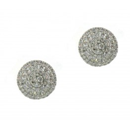 Round Pavé Cluster Earrings