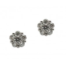 Diamond Cluster Earrings (1ct)