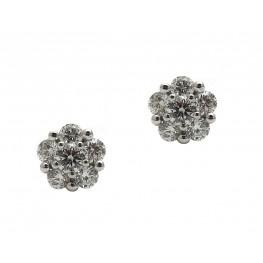 Diamond Cluster Earrings (1ct)