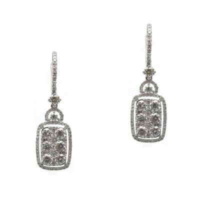 Hanging Cushion Shape Earrings
