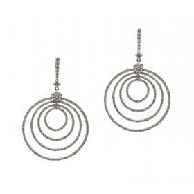 Encircled Diamond Earrings