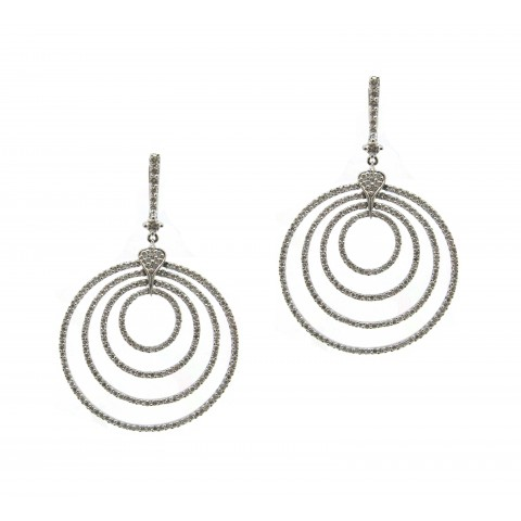 Encircled Diamond Earrings