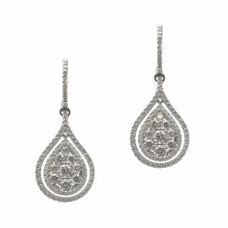 Tear Drop Cluster Earrings