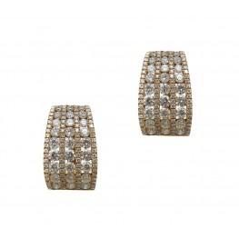 Rose Gold Diamond Multi-Row Hoops