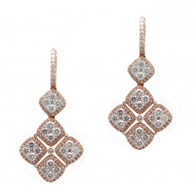 Rose Gold Diamond Drops