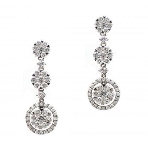 Triple Cluster Earrings