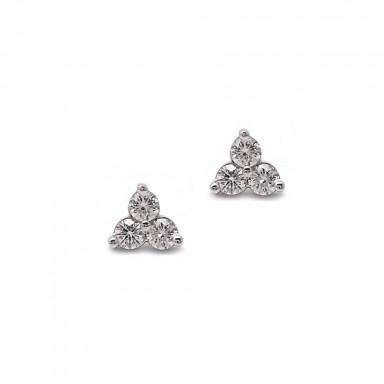 Three Stone Earrings