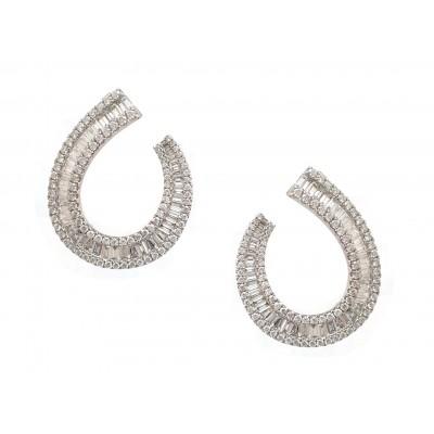 Baguette Hoop Earrings