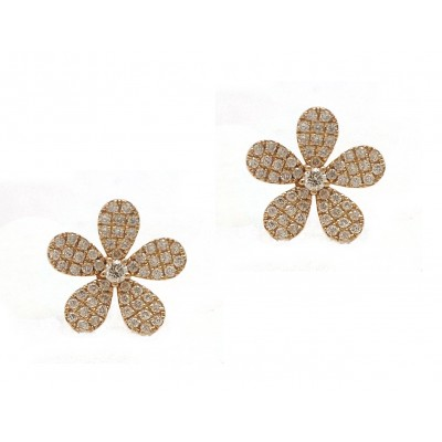 5 Petal Flower Earrings