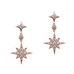 Rose Gold Starburst Earrings