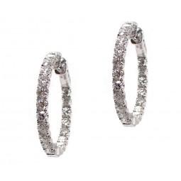 Diamond Hoops - 1 Inch Round