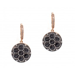 Rose Cut Diamond Drop Earrings in Rose Gold