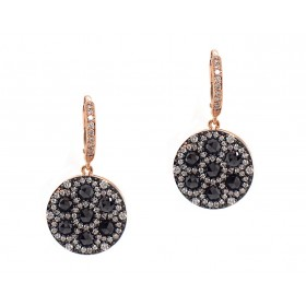 Rose Cut Diamond Drop Earrings in Rose Gold