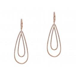 Golden Tear Drop Earrings