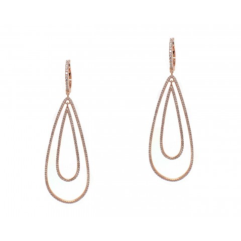 Golden Tear Drop Earrings