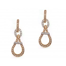 Two-Tone Tear Drop Earrings