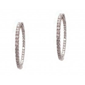 Classic Diamond Hoops - 1-1/3 Inch