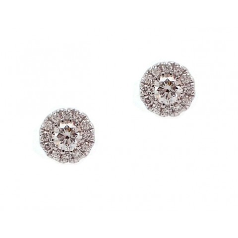 Diamond Cluster Halo Earrings