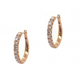 Diamond Hoop Earrings - Yellow