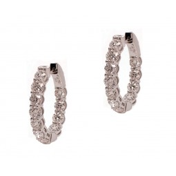 20pt Diamond Hoops (with Airline)