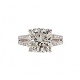 Stunning 5ct Cushion Cut Diamond with Split Shank Setting