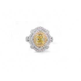 Unique Fancy Yellow Cushion Diamond Ring