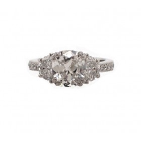Antique Style Cushion Cut with Half Moons