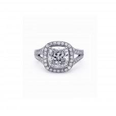 Split Shank Cushion Diamond Engagement Ring