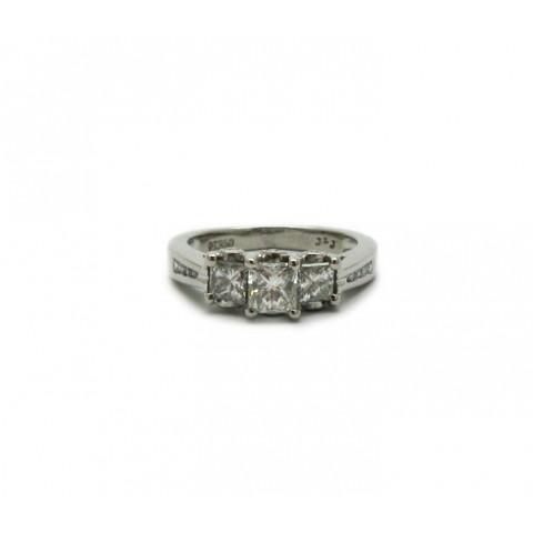 Contemporary Princess Cut Ring