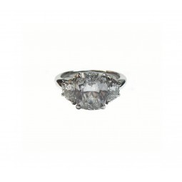 2CT Cushion Cut with Half Moons