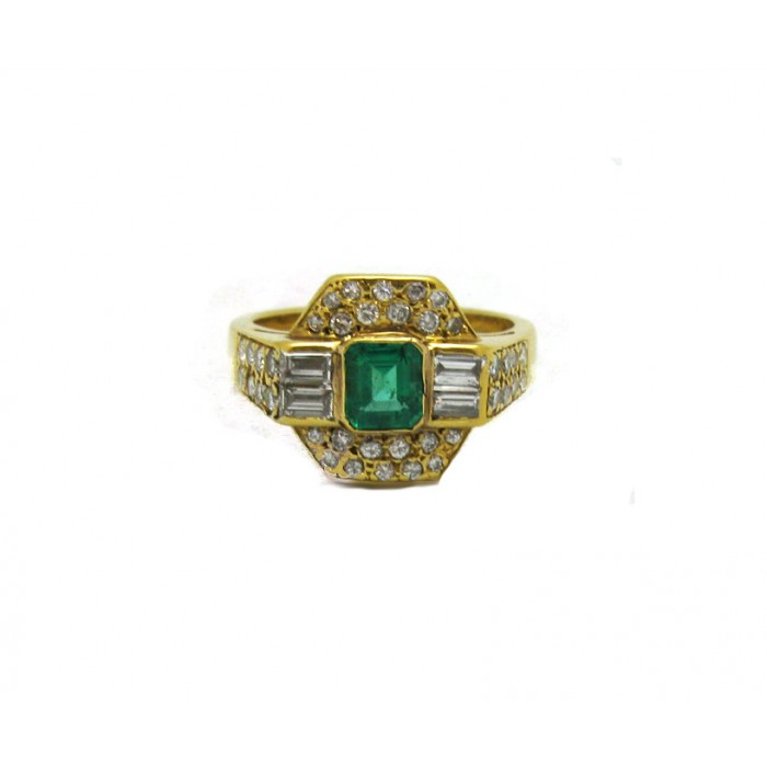estate emerald and ring