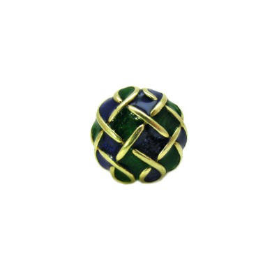 Estate Blue and Green Gold Ring