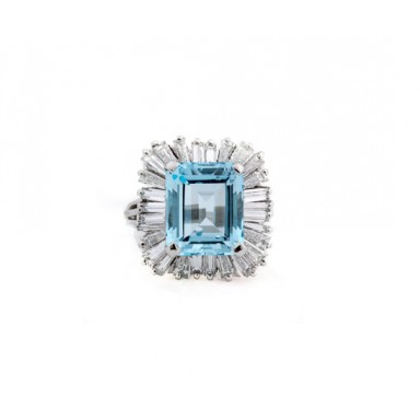 Estate Topaz Ballerina Ring