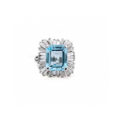 Estate Topaz Ballerina Ring
