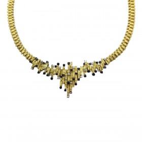 Estate Sapphire and Diamond Necklace