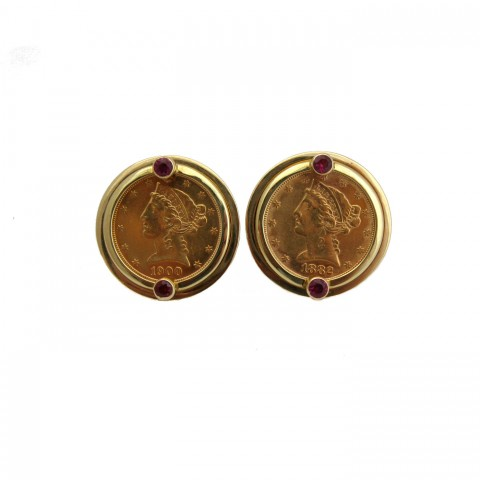 Estate Coin Earrings