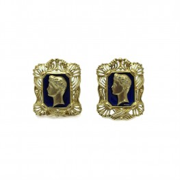 Estate Cameo Inspired Cuff Links