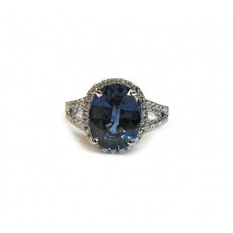 Gorgeous Oval Sapphire Halo Ring
