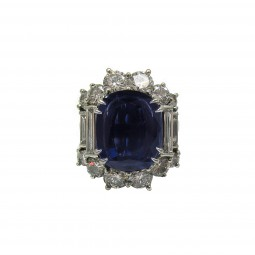 Convertible Sapphire and Diamond Fancy Ring / Pendant