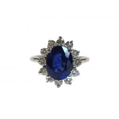 Classic Sapphire and Diamond Ring